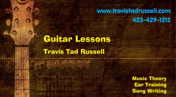 Learn to play guitar Guitar Lessons Travis Tad Russell